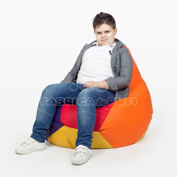 Fotoliu bean bag adolescent multicolor