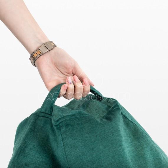 Fotoliu puf Para Iris XL verde smarald